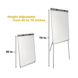 Thornton's Magnetic Tripod Dry Erase Flip Chart Board, 39 x 27