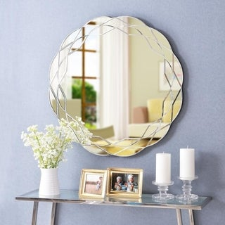 """Link to Hadley 30-inch Wall Mirror - 30"""" Dia. Similar Items in Mirrors"""