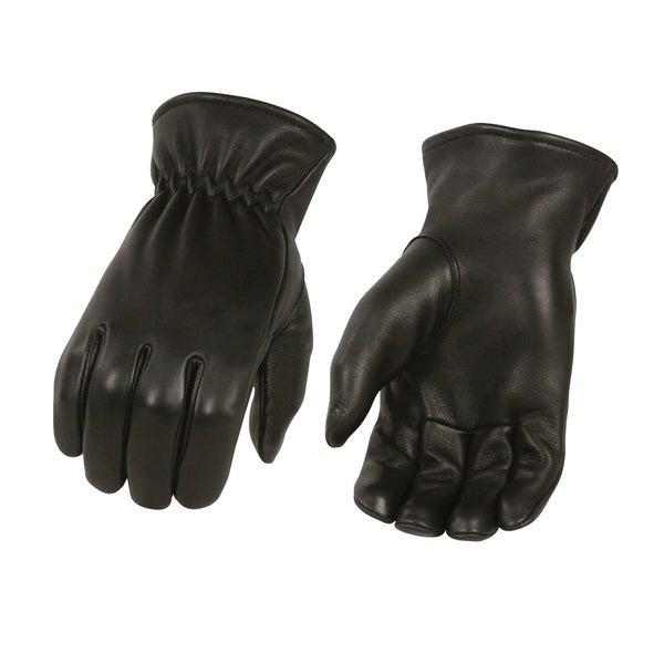 Men's Unlined Deerskin Gloves w/ Cinch Wrist