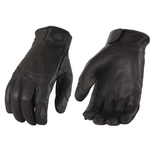 Men's Premium Leather Gloves w/ Led Finger Lights - I-Touch. Opens flyout.