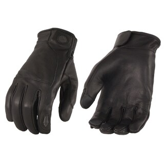 Men's Premium Leather Gloves w/ Led Finger Lights - I-Touch