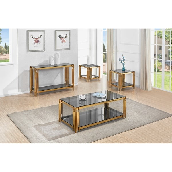Top Quality Furniture: Shop Best Quality Furniture 4-Piece Glass Top Coffee