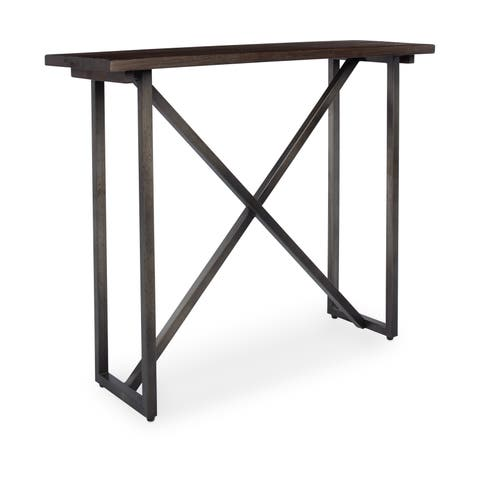 Handmade Wood and Metal Bridge St Console Table (Indonesia)