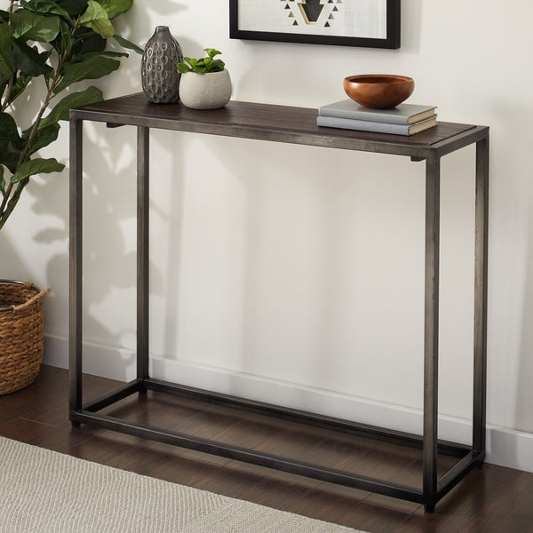 Handmade Wood and Metal Brighton Console Table (Indonesia)