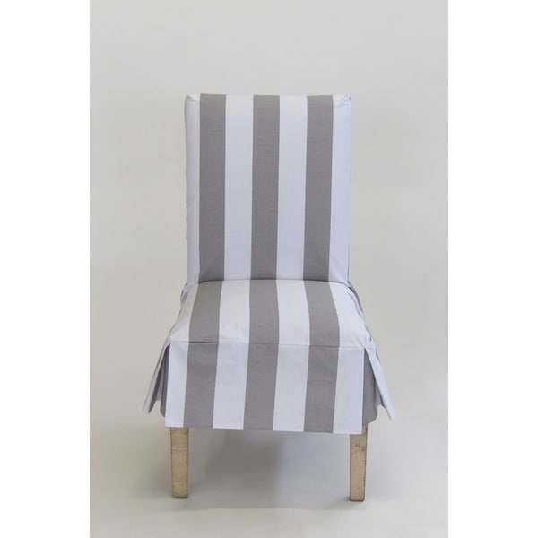 Clic Slipcovers Cabana Stripe Short Dining Chair Covers Set Of 2