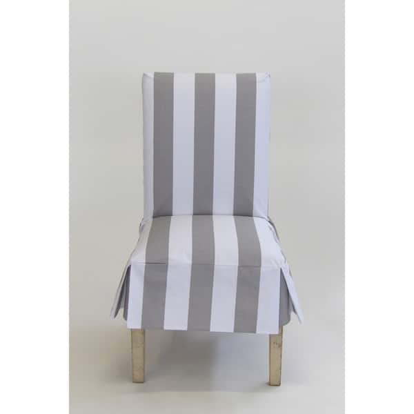 Wondrous Shop Classic Slipcovers Cabana Stripe Short Dining Chair Andrewgaddart Wooden Chair Designs For Living Room Andrewgaddartcom