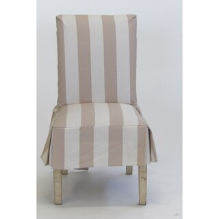 Classic Slipcovers Cabana Stripe Short Dining Chair Covers Set of 2 (Option: taupe and cream stripe)