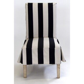 Classic Slipcovers Cabana Stripe Short Dining Chair Covers Set of 2