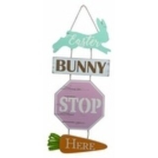 Transpac MDF Easter Bunny Stop Here Sign