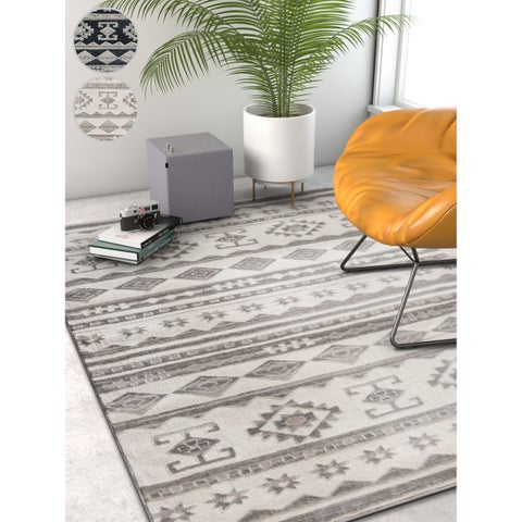 Well Woven Modern Tribal Stripe Area Rug (5'3 x 7'3)