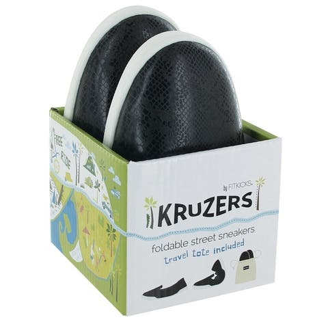 Kruzers Foldable Slip-on Street Sneakers with Full Rubber Sole