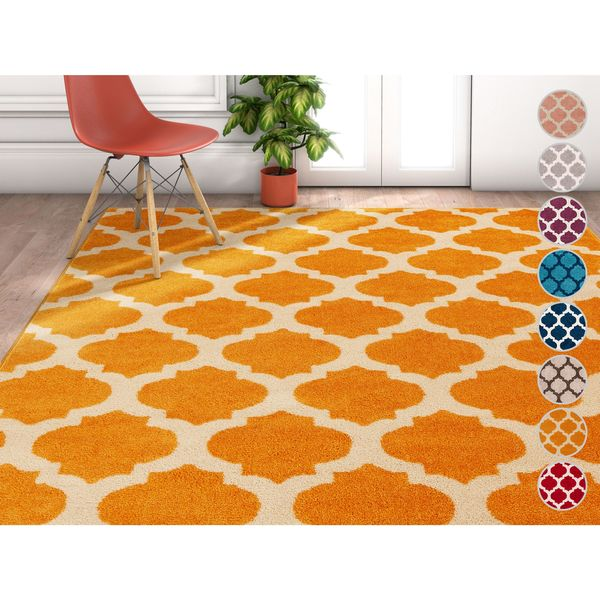 Well Woven Modern Trellis Latice Geometric Area Rug (7'10 x 9'10)
