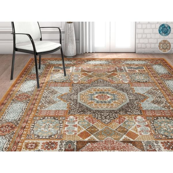 Well Woven Vintage Traditional Medallion Area Rug (7'10 x 9'10)