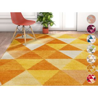 Well Woven Modern Geometric Area Rug (7'10 x 9'10)
