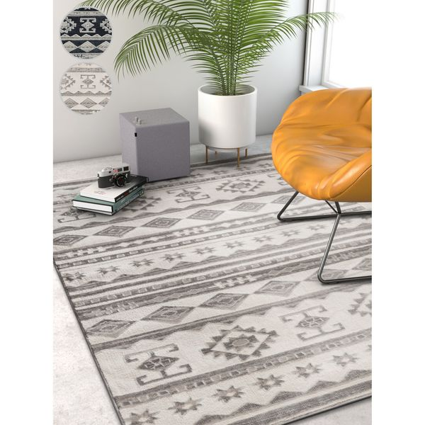 Well Woven Modern Tribal Stripe Area Rug (7'10 x 9'10)