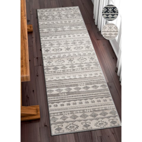 Well Woven Modern Tribal Stripe Runner Rug (2'3 x 7'3)