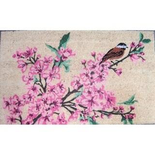 Cherry Blossom Brown Bird Coirmat