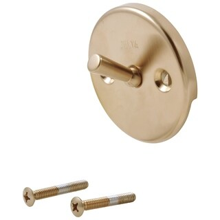 Delta Champagne Bronze Trip Lever Overflow Plate and Screws
