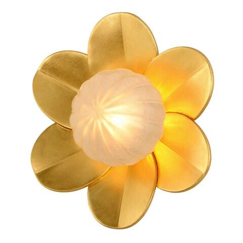 Corbett Lighting Gigi 10-inches Gold Leaf Wall Sconce