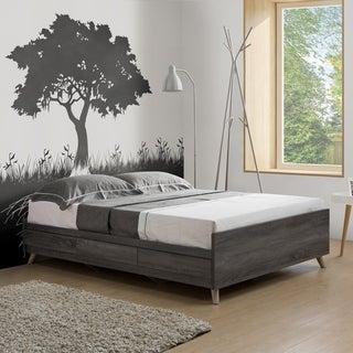 Riley Distressed Grey 3-drawer Queen-size Platform Storage Bed