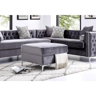 Inspired Home Dante Velvet Square Storage Ottoman (3 options available)