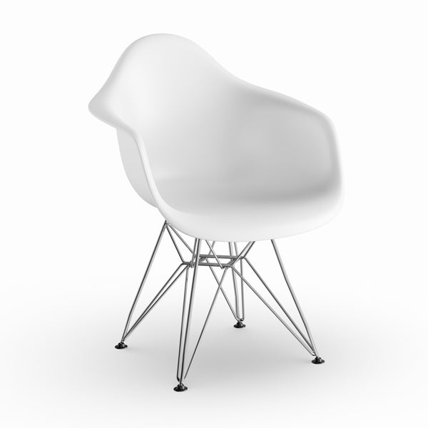 Carson Carrington Notodden Wire White Arm Chair