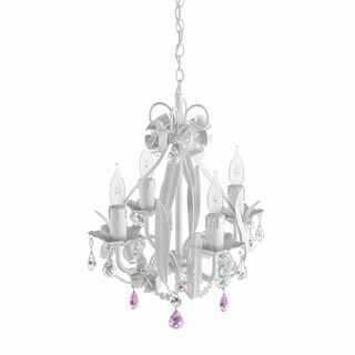 Maison Rouge Turner Gallery Wrought Iron and Crystal Mini 4-light Chandelier