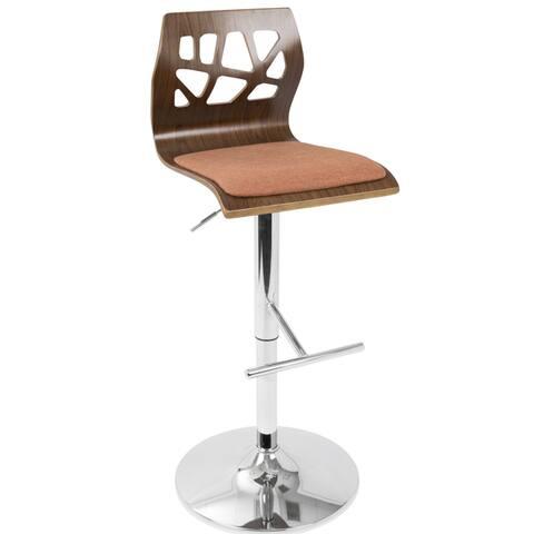 Carson Carrington Sala Mid-Century Modern Walnut Wood Adjustable Barstool