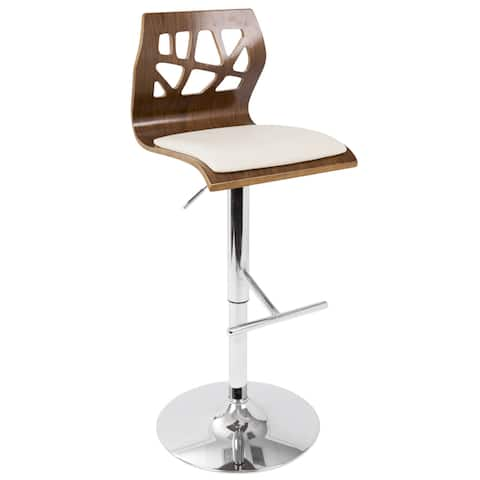 Carson Carrington Sala Mid-Century Modern Walnut Wood Adjustable Barstool