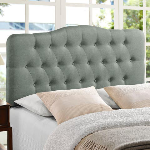 The Gray Barn Burr Hollow Queen Fabric Upholstered Headboard