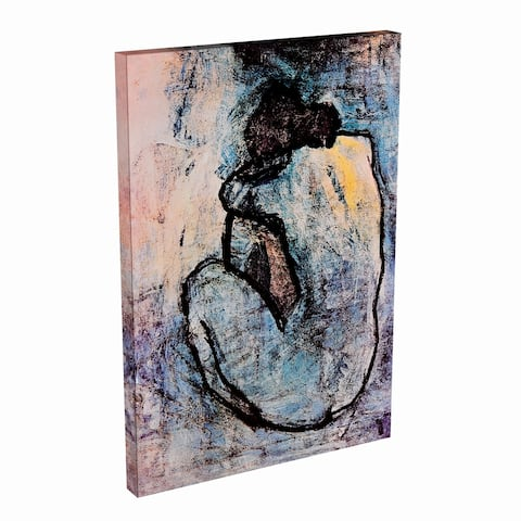 Silver Orchid 'Blue Nude' by Pablo Picasso Canvas Print Wall Art