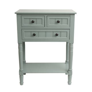Simplify Wood 3 Drawer Console Table