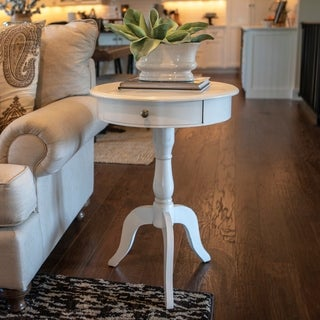 Maison Rouge Fontaine One Drawer Pedestal Table (3 options available)
