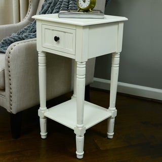 Superbe Maison Rouge Provins One Drawer Square Accent Table