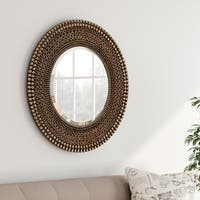 Carson Carrington Heinola Antique Bronze Wall Mirror - Antique Silver