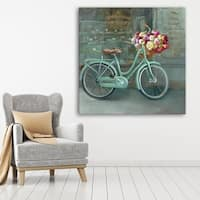 ArtWall Danhui Nai's 'Joy Of Paris 1' Gallery-Wrapped Canvas - Green