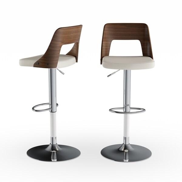 Shop Viera Mid Century Modern Adjustable Wood Barstool