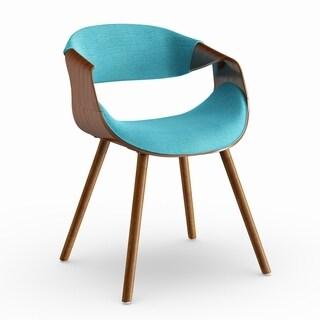 Carson Carrington Visby Mid-century Modern Walnut Wood Chair
