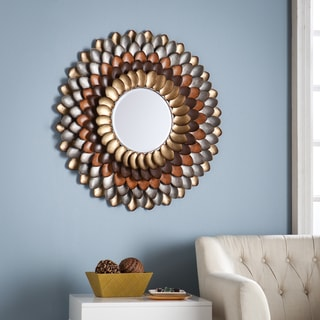 The Curated Nomad Estrelia Decorative Round Mirror - Multi
