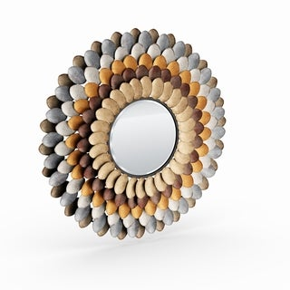 The Curated Nomad Estrelia Decorative Round Mirror