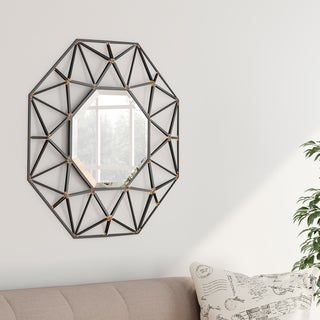Carson Carrington Heinola Decorative Geometric Mirror