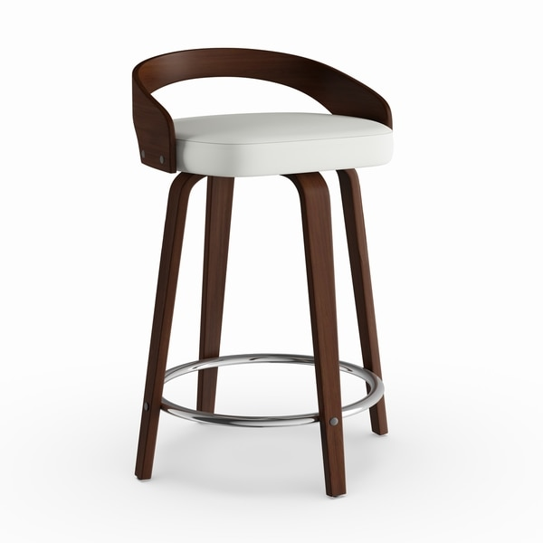 Palm Canyon Valencia Faux Leather Mid Century Modern Counter Stool