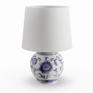 Maison Rouge Stephane Blue/ White Ceramic Table Lamp