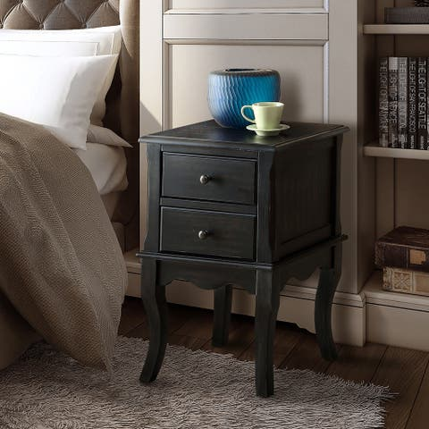 Furniture of America Madelle II Vintage 2-drawer Side Table/Nightstand