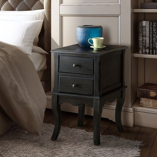 Link to Furniture of America Madelle II Vintage 2-drawer Side Table/Nightstand Similar Items in Bedroom Furniture