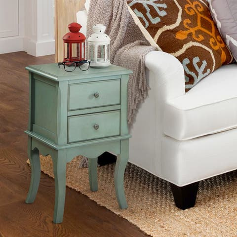 The Gray Barn Ely Valley Vintage Style 2-drawer Side Table