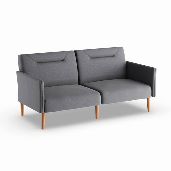 Linen Multi Position Futon Grey