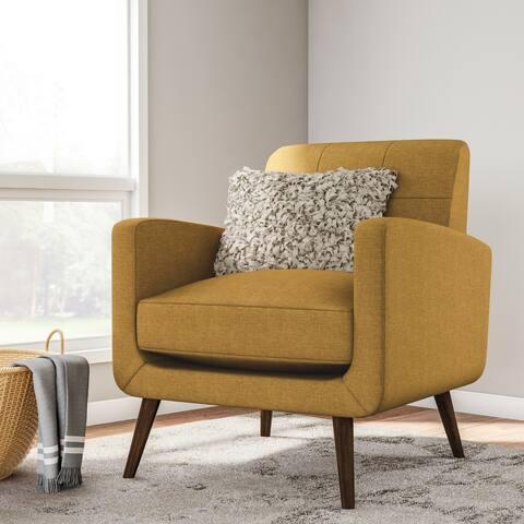 Carson Carrington Keflavik Gold Yellow Mid-century Accent Chair