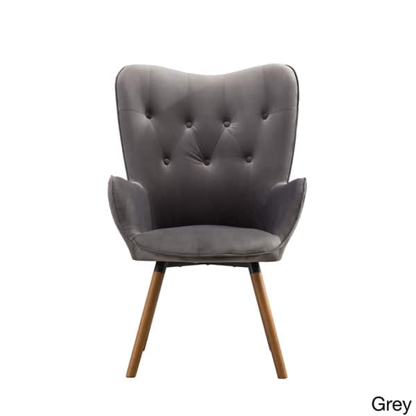 Pleasing Shop Carson Carrington Arvika Button Tufted High Back Velvet Ibusinesslaw Wood Chair Design Ideas Ibusinesslaworg