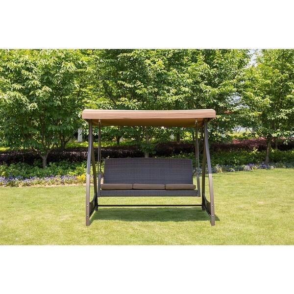 Sunlife Porch Lawn Glider Swing 3 Seat Hammock Chair
